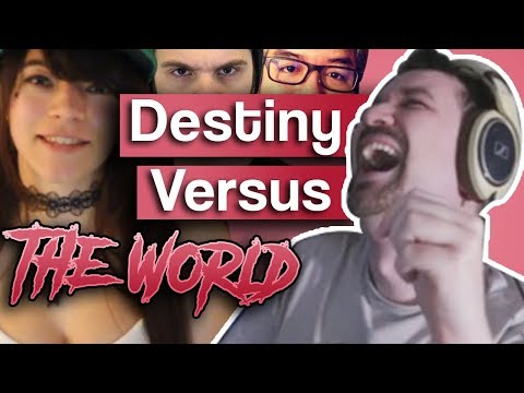 Destiny Debates YouTubers - Ft. Andy Warski, Brittany Venti, Metokur, Asmongold and More