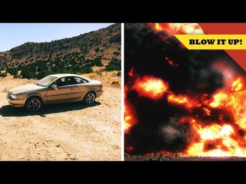 Exploding a CAR with Tory Belleci! - YouTube