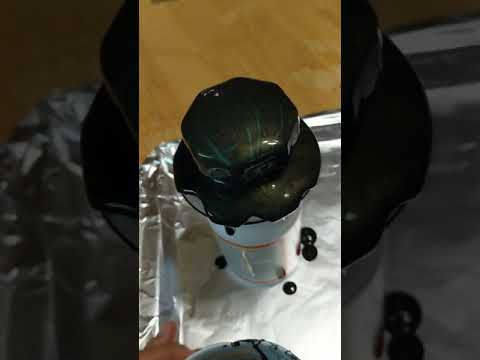 Acrylic Pouring of Candy dish Part 2 lid