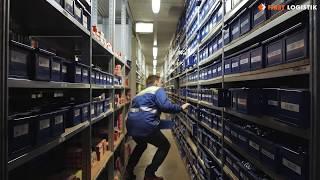 видео: Автоматизированные стеллажи First Logistik - вертикальные шкафы