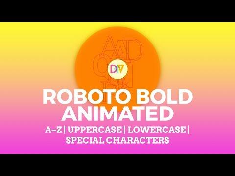 Roboto Bold Animated — A Free Animated SVG Alphabet Kit