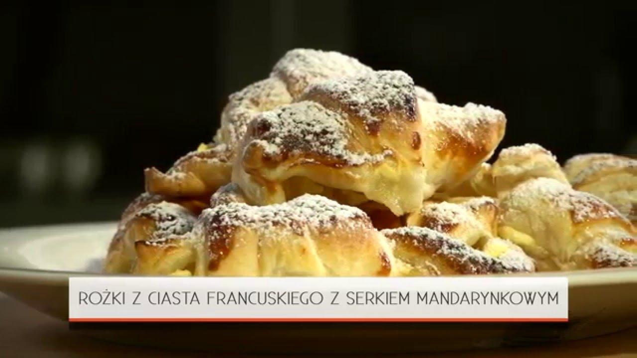 Przepis Rogaliki Z Ciasta Francuskiego Z Twarozkiem Mandarynkowym