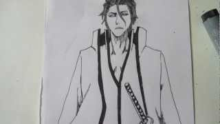 How to draw Aizen Sousuke 藍染 惣右介