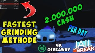 Roblox jailbreak how I get 2,000,000 money in a day best farm method + 4 K Robux giveaway