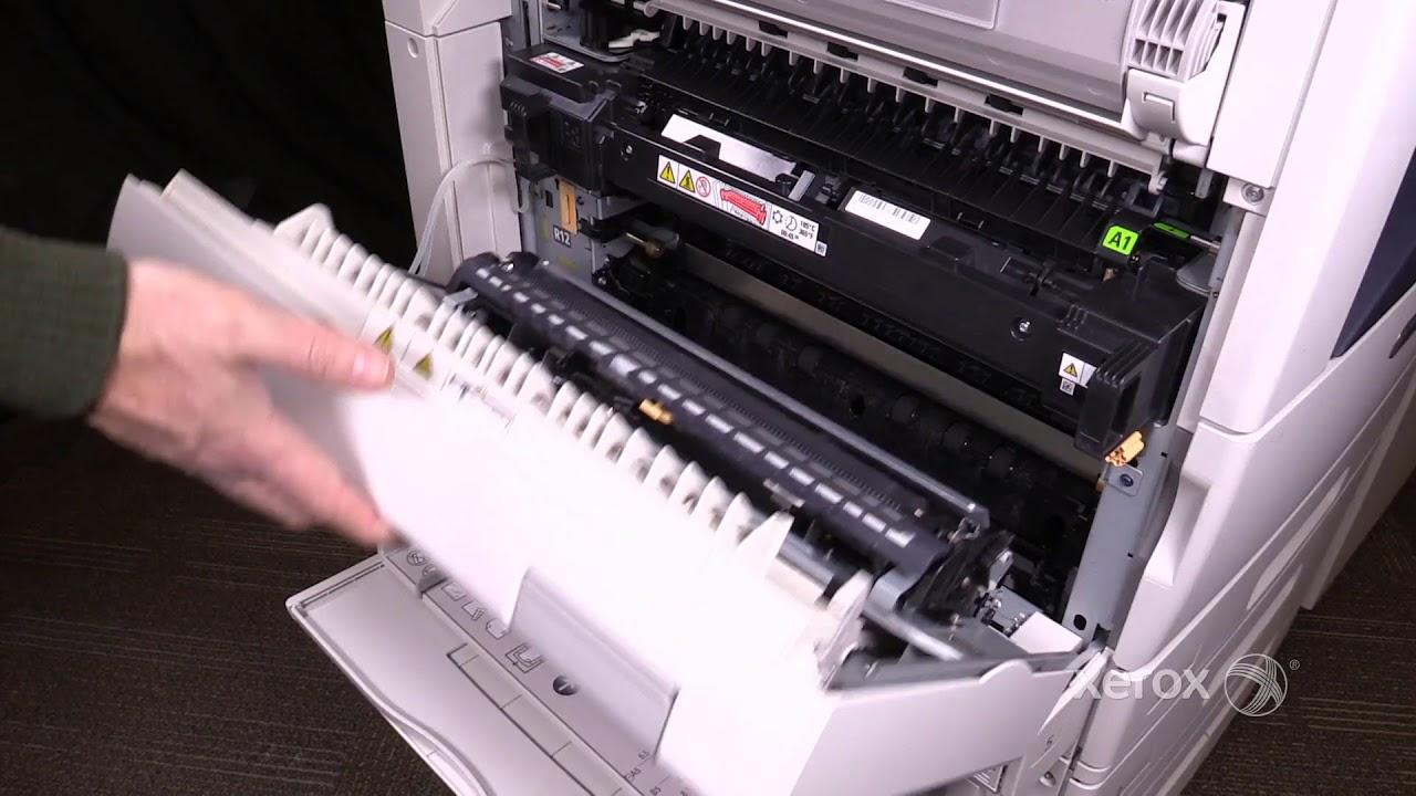Xerox Altalink C8070 Family Clearing Jams In The Left Upper Door