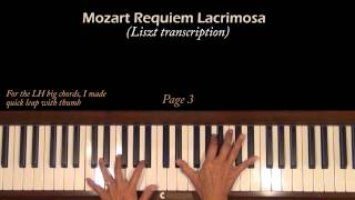 Mozart Requiem Lacrimosa (Liszt)  Piano Tutorial