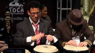 The E Family at the Toca Percussion Booth (NAMM 2013)