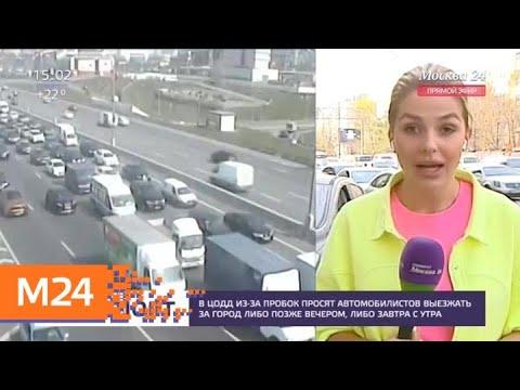 Автомобилистов просят выезжать за город поздно вечером - Москва 24