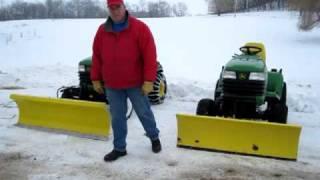 SNOW PLOW FOR JOHN DEERE X595 COMPARISON