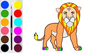 How to Draw The Lion King Simba and Scar Characters / Drawing for Kids Learn Colours for Children