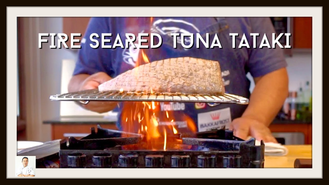 Fired Seared Tuna Tataki | Indoor BBQ Taste Without Going Outside!