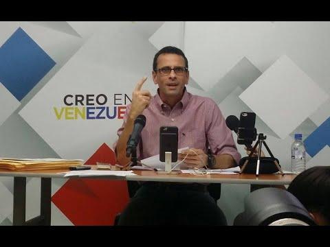 Rueda de prensa Henrique Capriles Radonski - Movilización al CNE el 27 de Abril