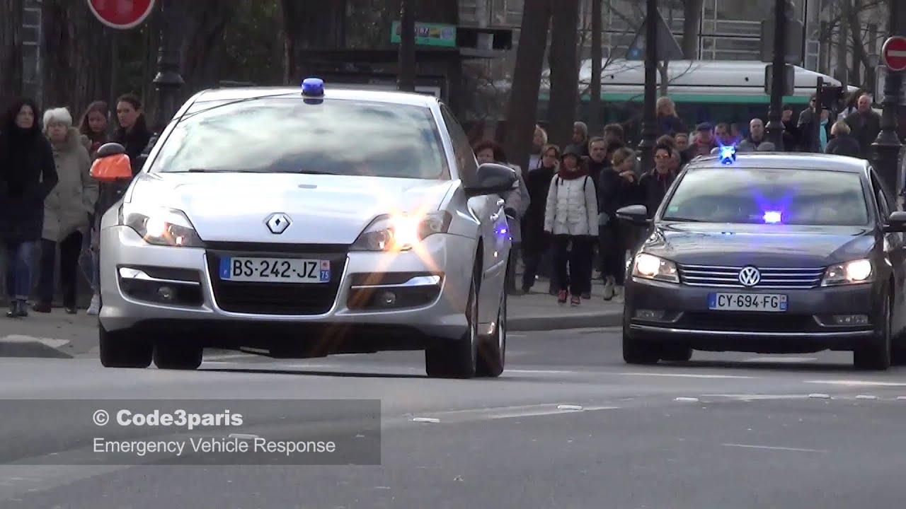 voitures de police banalis es unmarked police cars responding youtube. Black Bedroom Furniture Sets. Home Design Ideas
