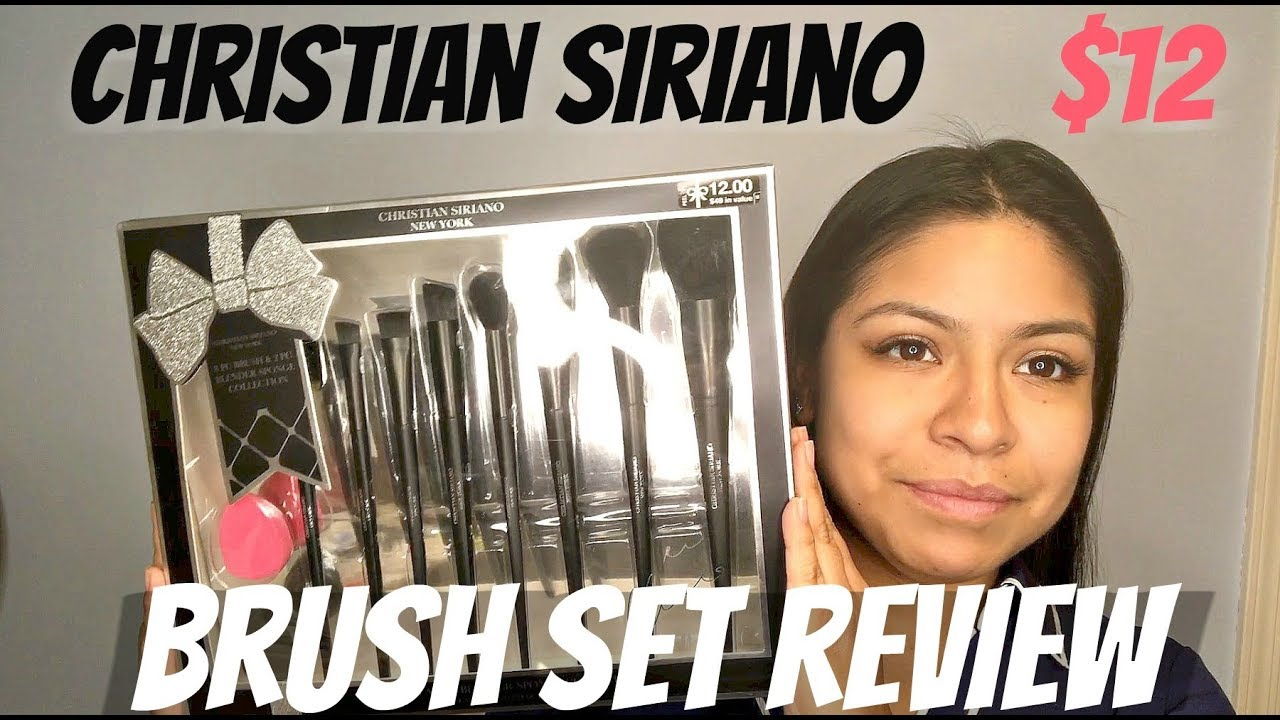 26c8cd5f7ee8 Christian Siriano $12 Brush set Review | REA Makeup by Andrea
