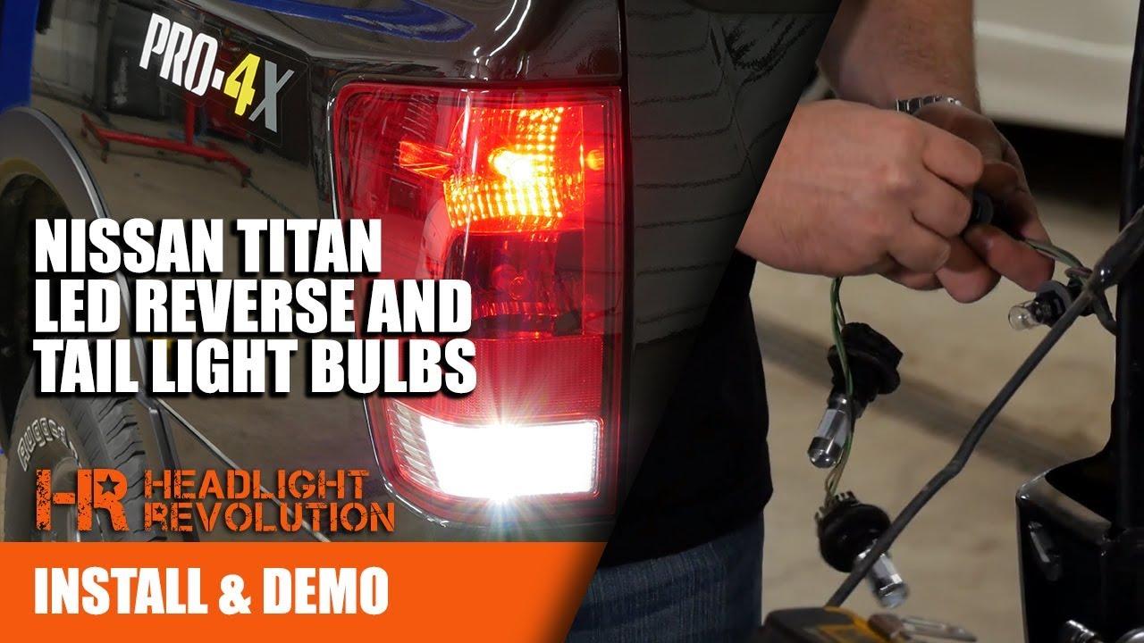nissan titan headlight wiring diagram 2003 2015 nissan titan led tail light bulb upgrades bright  2015 nissan titan led tail light bulb