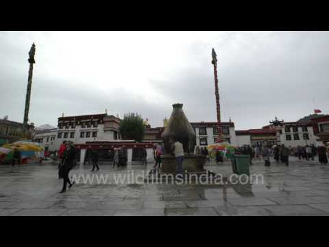Barkhor Square in Lhasa, Tibet