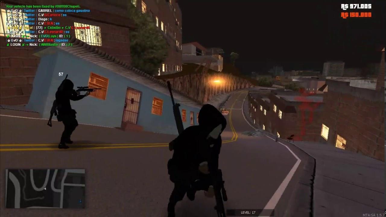 Mta Rp Invasao Na Favela Da Cv Evolution City Youtube
