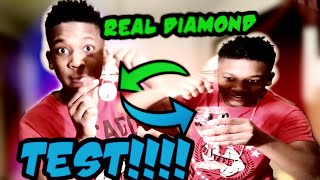PROVING THAT THE DIAMONDS IN MY CHAIN ARE REAL(WITH WATER!!!?)