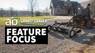 ABI Gravel Grader - Driveway Grader for Lawn Tractor and Zero-turn Mower