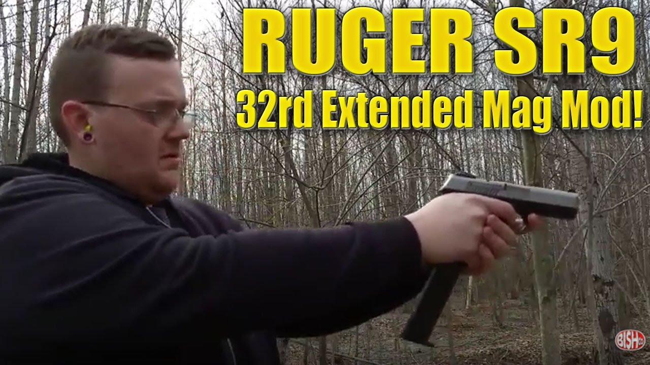 Ruger SR9 32rd Extended Mag Mod  (Test 1)