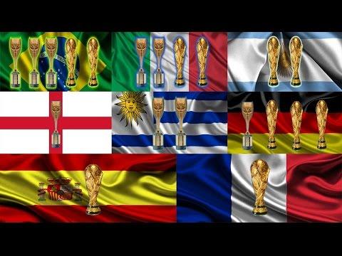 Los Paises con mas Titulos en el Mundo Uruguay, Brasil, Argentina