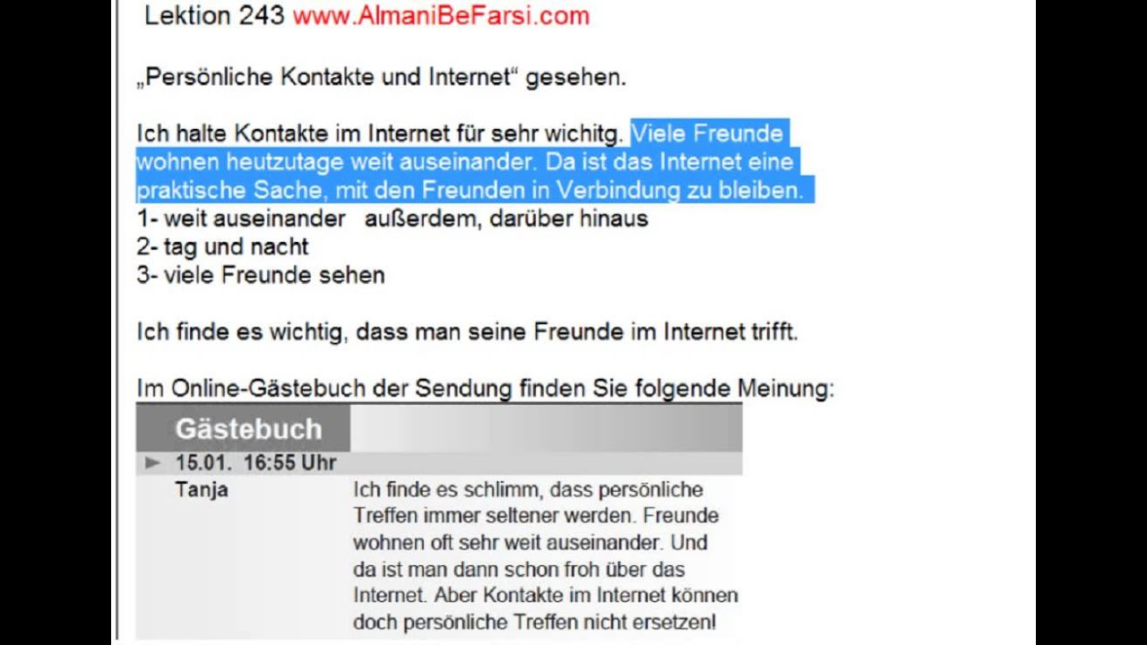 Beispiele Briefe A1 : Lektion brief b aufgabe youtube
