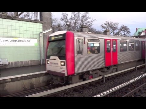 Hamburg U-Bahn U3 Landungsbrücken St. Pauli  - Baumwall