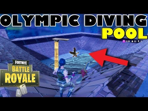 WORLD'S FIRST *OLYIMPIC DIVING POOL STADIUM* BUILD IN FORTNITE BATTLE ROYALE!