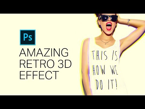 Photoshop Tutorial: Create an AMAZING 3D Retro Effect With Just 3 Layers. (Bonus Tone Curves Trick!)