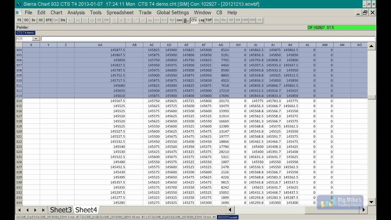 Sierra Chart Automated Trading via Spreadsheets
