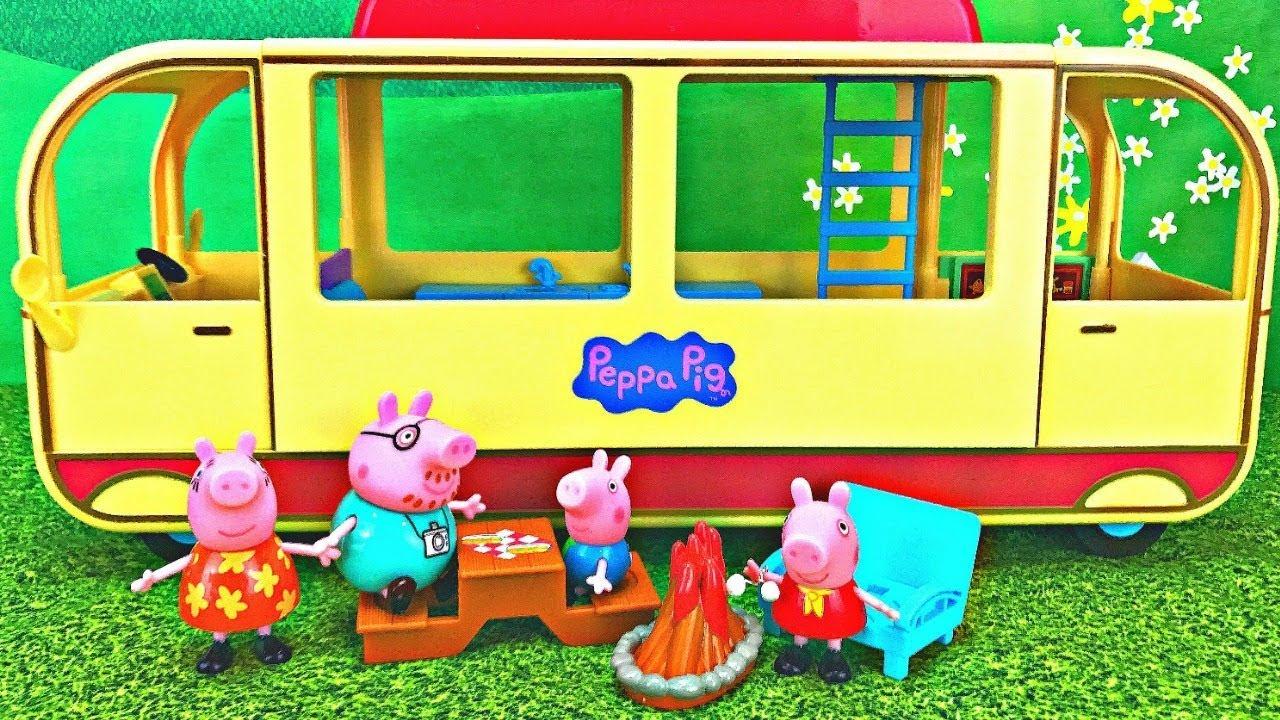 Fizzy Fun Toys: Peppa Pig's Transforming Camper Van Camping Adventure Toy