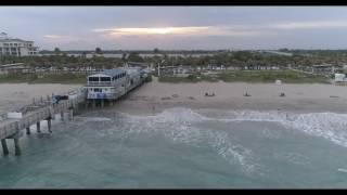Phantom 4 Pro - Windy Flight at Lake Worth Beach (4K)
