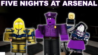 ALL 5 NIGHTs ARSENAL WINS and SKINS | Roblox