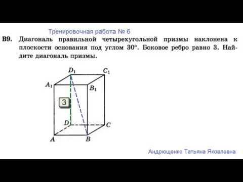 ЕГЭ 2014 В9-6 Призма