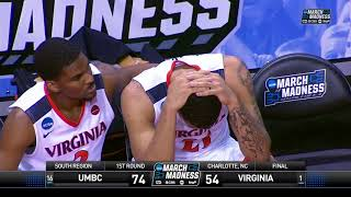 #16 UMBC pulls off a miracle upset over #1 Virginia, 74-54, in the first round