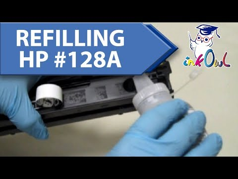 How to Refill HP #128A Cartridges for CM1415, CP1525 (CE320A/CE321A/CE322A/CE323A)