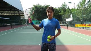 Траектория Полета мяча в большом теннисе над Сеткой и на Выход после Отскока Это фитнес это Жизнь
