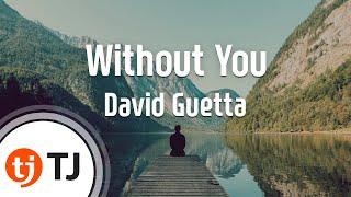 [TJ노래방] Without You - David Guetta(Feat.Usher) ( - ) / TJ Karaoke