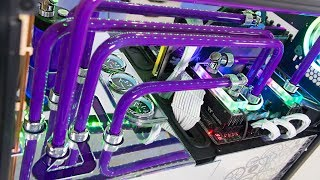 $5200 Custom Water Cooled Gaming & EDITING PC Build | Crazy Time Lapse