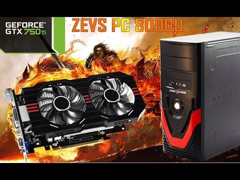 Тест Intel Core i3-2100 и GTX750Ti (GTA V, Witcher 3, Battlefield 1 ULTRA) ZEVS PC8000 (A800)