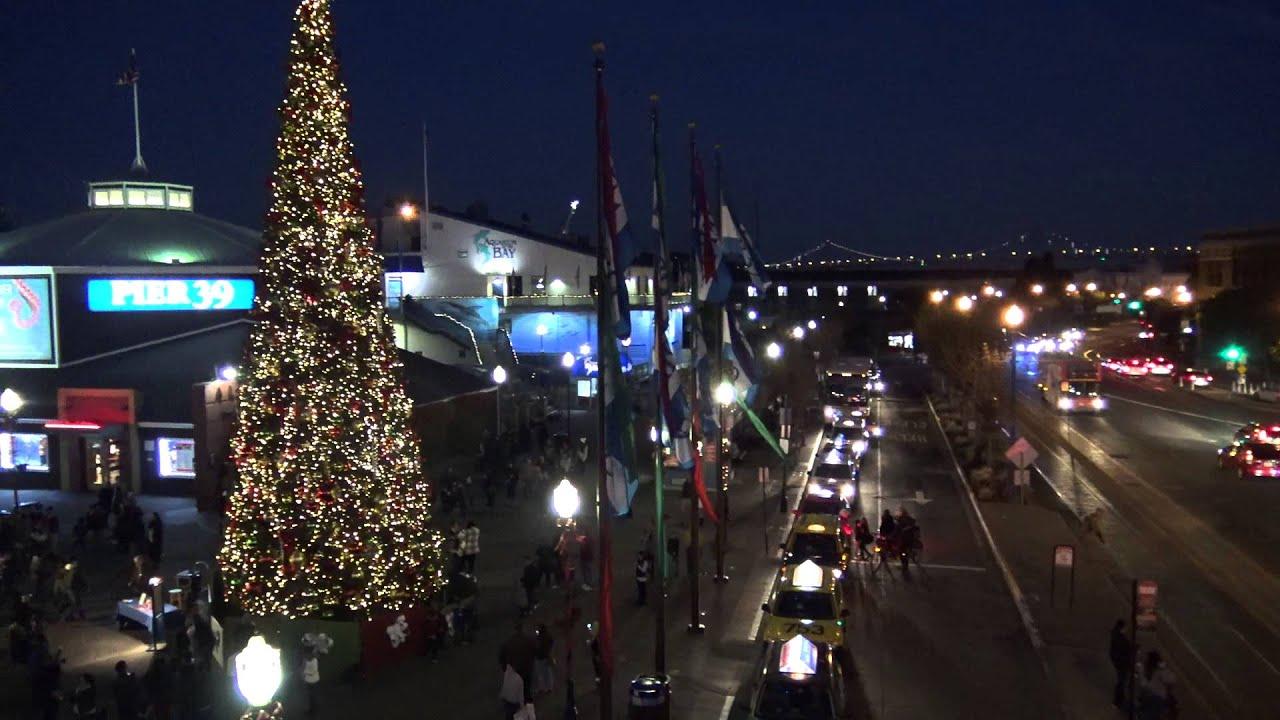 Christmas tree @ Pier 39 San Francisco & Christmas tree @ Pier 39 San Francisco - YouTube azcodes.com