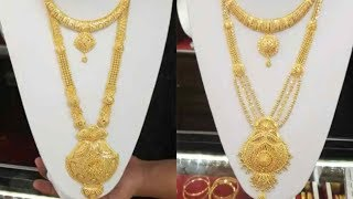Latest Gold Haram Designs Necklace || Long Necklace Designs