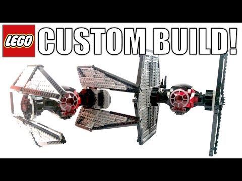 CUSTOM LEGO Star Wars First Order Tie Interceptor! | 75101 First Order Tie Fighter MOD!