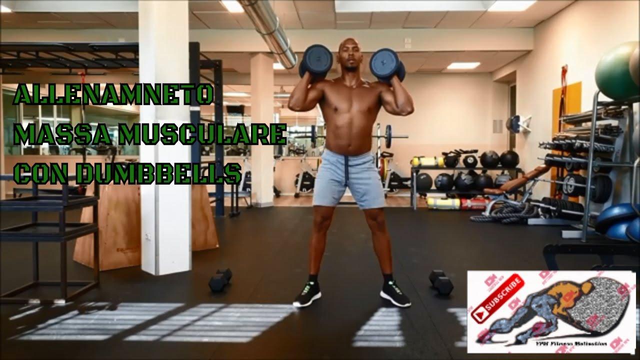 ALLENAMENTO massa muscolare con dumbbells