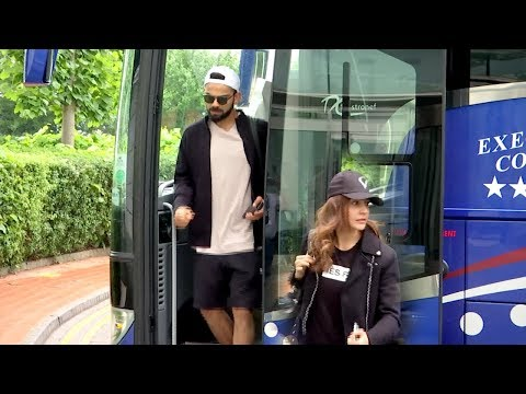 Watch: Anushka Sharma travels with hubby Virat Kohli to Cardiff from Manchester | India | England