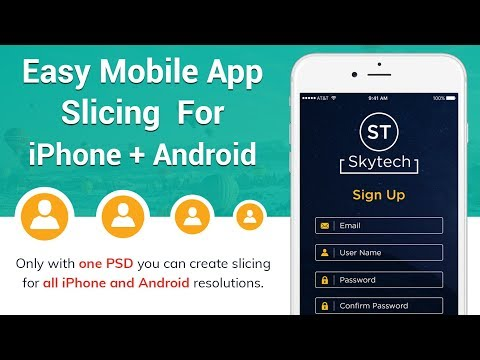 How To Slice Mobile Application For IPhone And Android From Same PSD