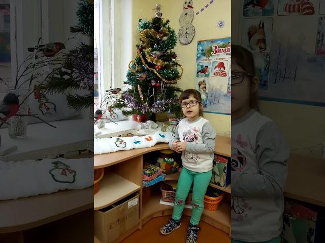 Изображение предпросмотра прочтения – РианаБаранова читает произведение «Снежок порхает, кружится» Ф.И.Тютчева