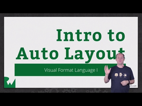 Visual Format Language - VML: Introduction Auto Layout in