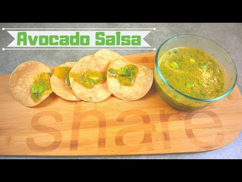 Homemade Salsa Verde With Diced Avocado Great For Dipping Chips Or Tacos Easy DIY Salsa Recipe