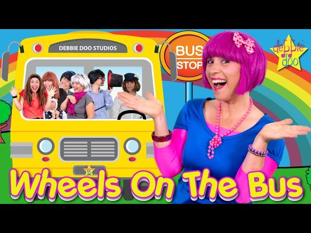 Wheels On The Bus Song |  Kids Songs and Nursery Rhymes |  The Five Finger Family | Debbie Doo #1